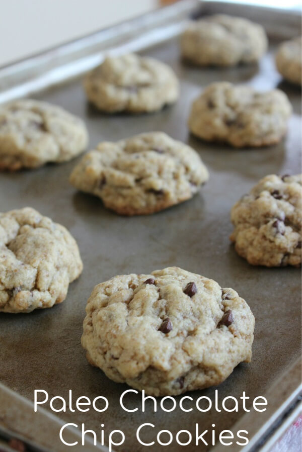 Paleo Chocolate Chip Cookies Recipe - Delicious, soft, and chewy made with almond flour and are gluten free, grain free, and dairy free