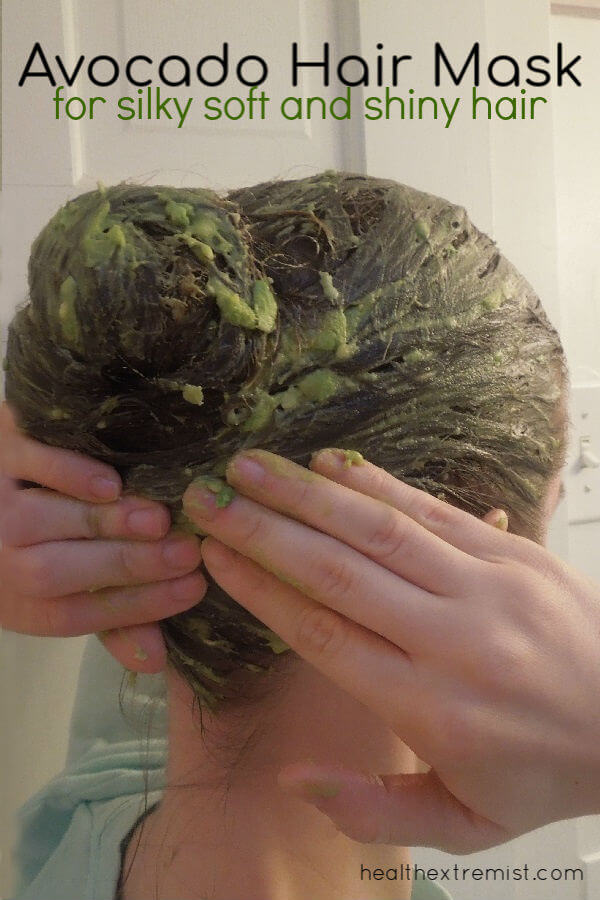 Avocado Hair Mask with Lemon and Olive Oil - It's deep conidtioning and leaves your hair silky soft, shiny, and helps tangles.