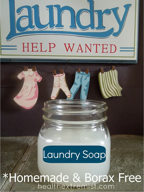 homemade laundry soap recipe Borax free