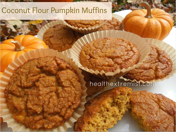 Paleo Pumpkin Muffins Made with Coconut Flour (gluten free and dairy free)