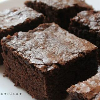 sliced paleo brownies on a plate