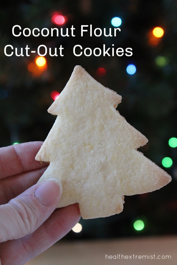 Paleo Cut-Out Coconut Flour Cookies Recipe - These coconut flour cookies are gluten free, grain free, dairy free and paleo.