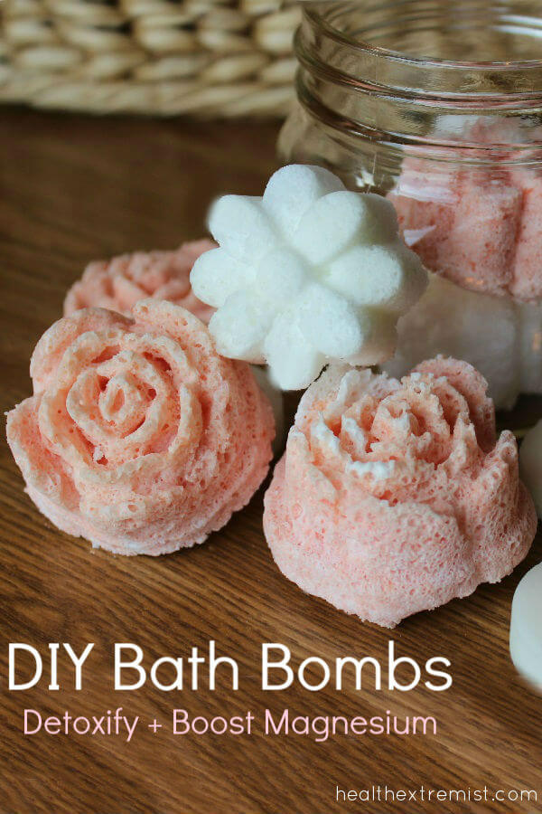 DIY Bath Bombs with Magnesium - Add one to your bath to detoxify