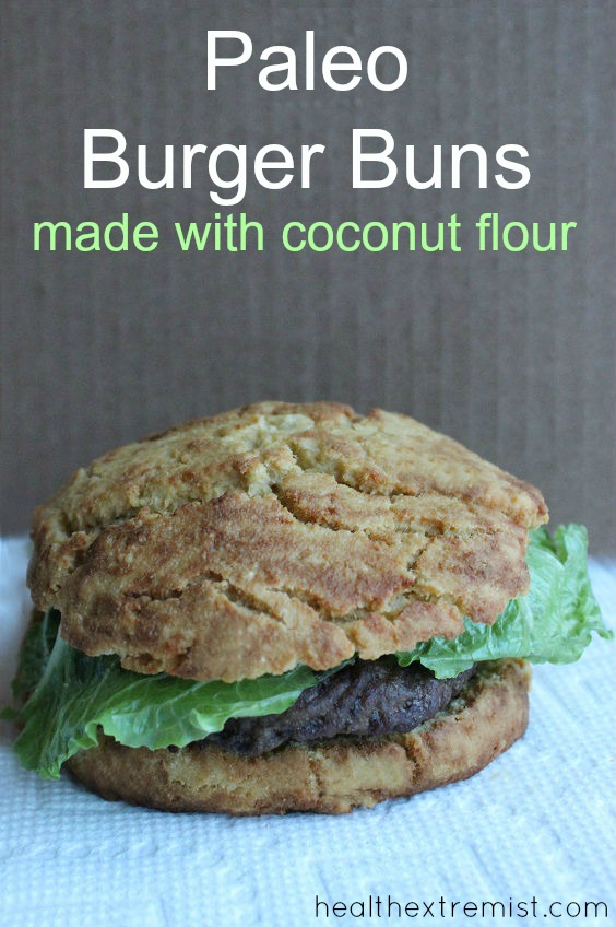 Delicious Paleo Burger Buns Recipe - made with coconut flour. Gluten free, grain free, dairy free.