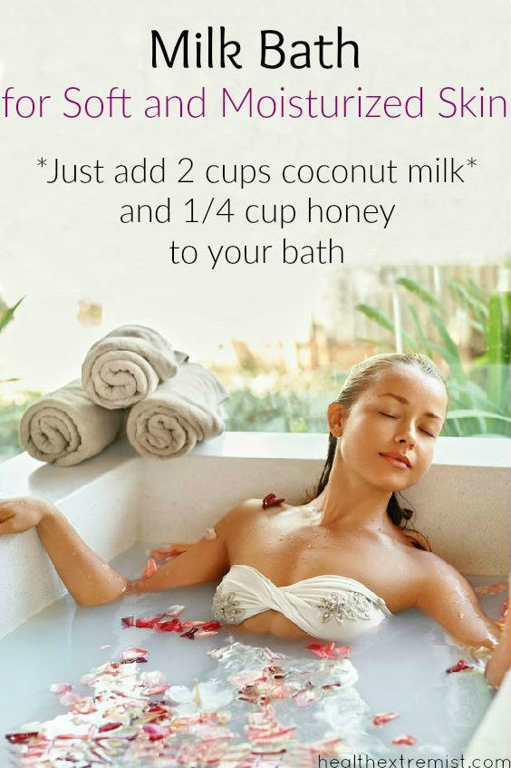 How to Make a Milk Bath for Soft and Moisturized Skin. Add coconut milk and honey to make a milk bath and get soft, smooth skin.