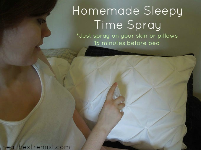 Homemade Sleepy Time Spray - Just spray on your skin or pillows before bed