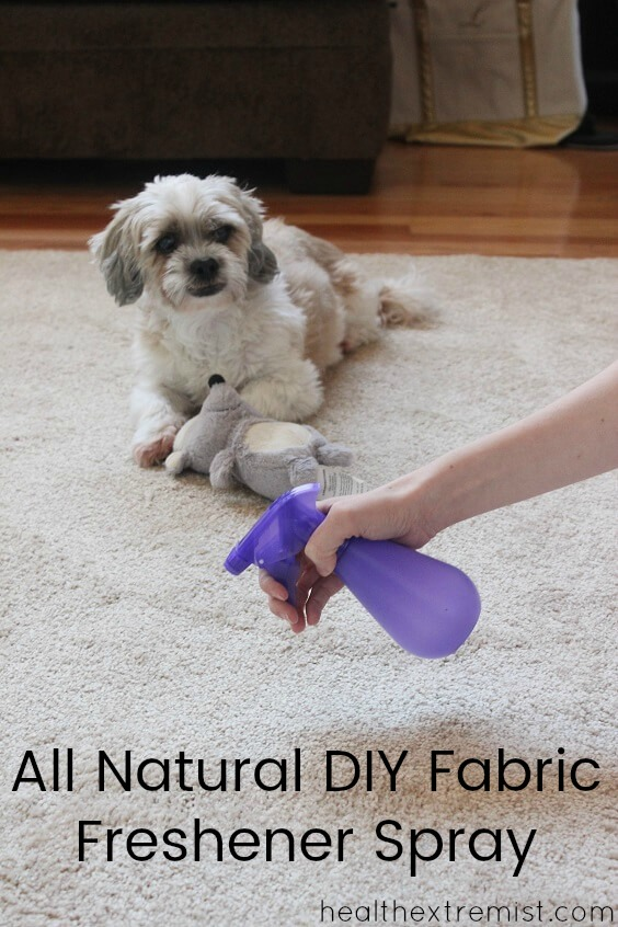 Make Your Own Natural DIY Fabric Freshener Spray - Using only 3 ingredients