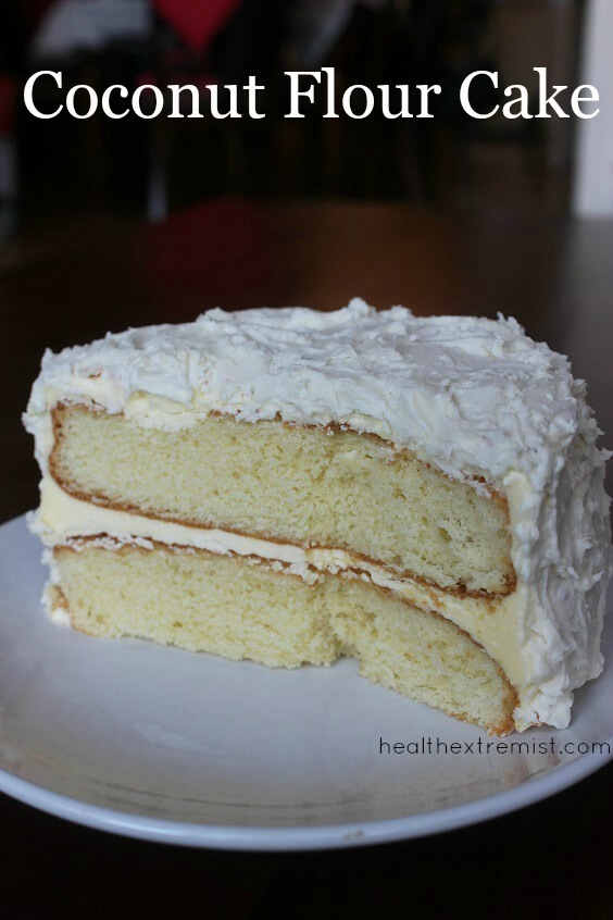 Paleo Coconut Flour Cake Recipe - This delicious vanilla paleo cake is gluten free, grain free, and dairy free