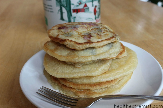 Paleo Blueberry Pancakes - Made with coconut flour, grain free, gluten free, dairy free