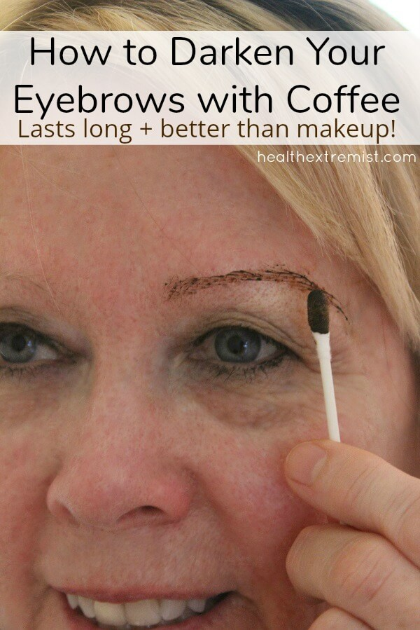 Make Your Own Coffee Eyebrow Tint to Darken Your Eyebrows Naturally! We mixed coffee grounds with water to create a coffee eyebrow tint. The coffee tint lasted several weeks and really darkened our eyebrows. #natural #diy #eyebrows #coffeetint #coffeeeyebrowtint #eyebrowtint #coloreyebrows #darkeneyebrows #dyeeyebrows #eyebrows