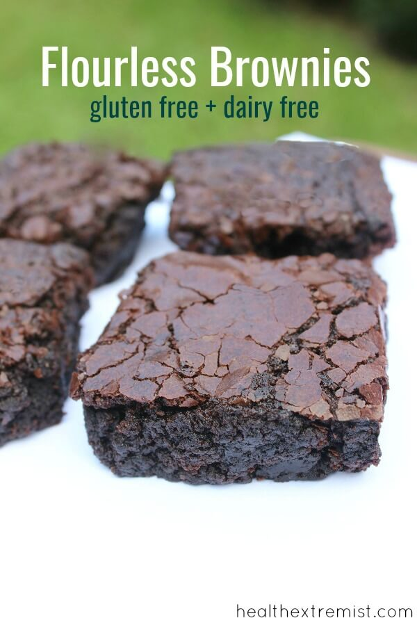This Recipe for Flourless Brownies Contains Just 5 Ingredients. These flourless brownies are grain free, gluten free and dairy free.