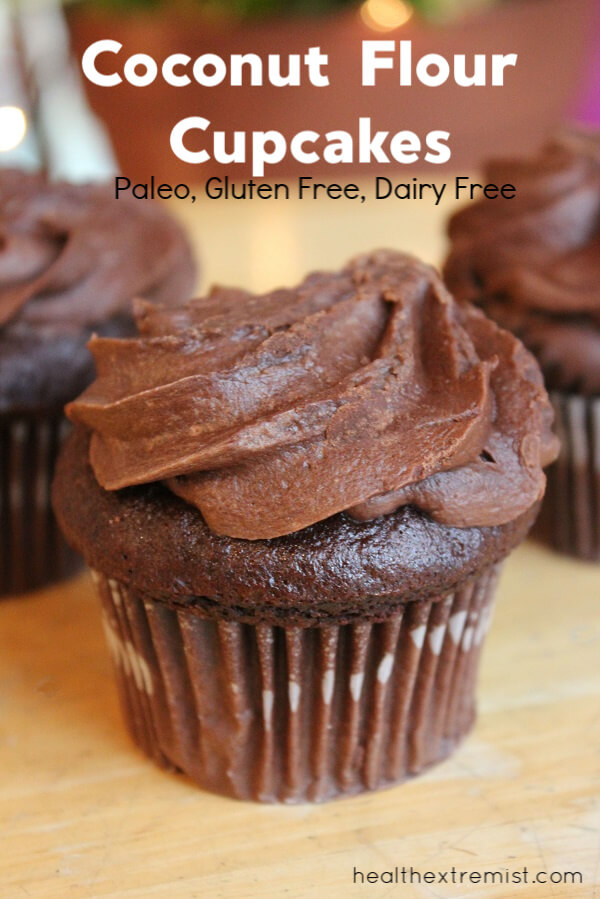 Coconut Flour Cupcakes -These paleo cupcakes are gluten free and dairy free. They are soft, fluffy and taste delicious.
