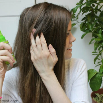 Natural DIY Hairspray - This hairspray has a strong hold and lasts all day. It makes my hair look more thicker and holds my hairstyle.